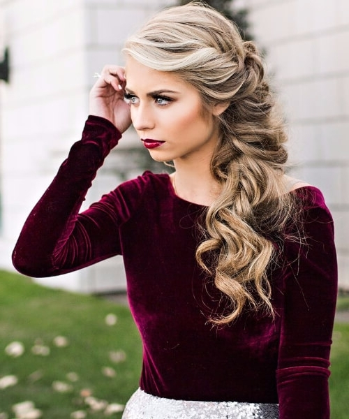 45 Fabulous Homecoming Hairstyles – My New Hairstyles Regarding Most Up To Date Messy Braid Hairstyles (View 9 of 15)