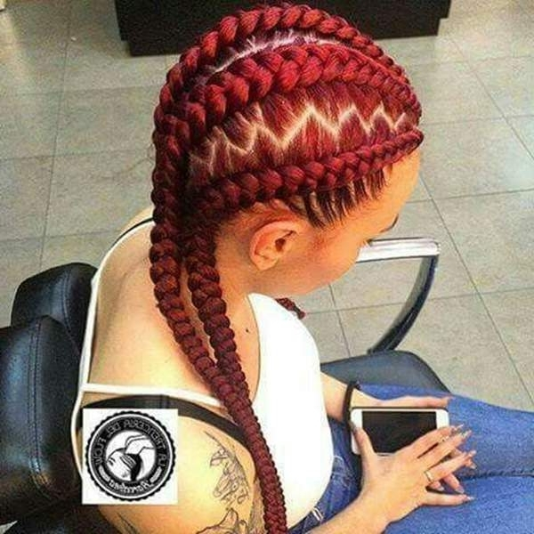 45 Photos Of Rockin' Red Box Braids With Most Up To Date Red Braided Hairstyles (View 5 of 15)