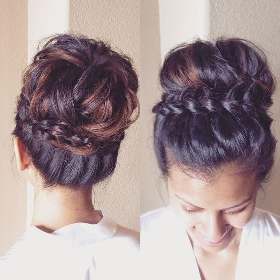 46 Best Braids Images On Pinterest | African Hairstyles, Protective For Best And Newest Braided Updo Hairstyles For Medium Hair (View 8 of 15)