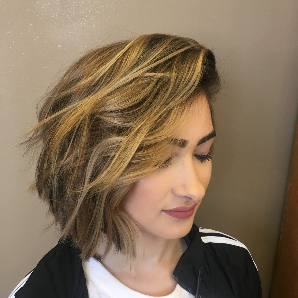 Displaying Photos Of Short Choppy Side Parted Pixie Haircuts View 3