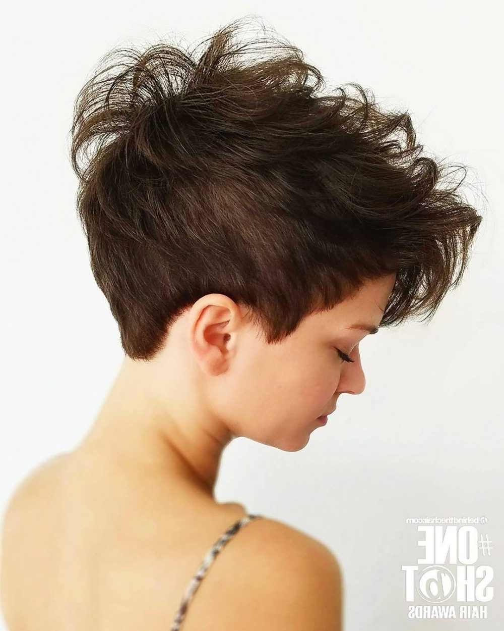 47 Popular Short Choppy Hairstyles For 2018 With Most Recent Tapered Pixie With Maximum Volume (View 14 of 15)