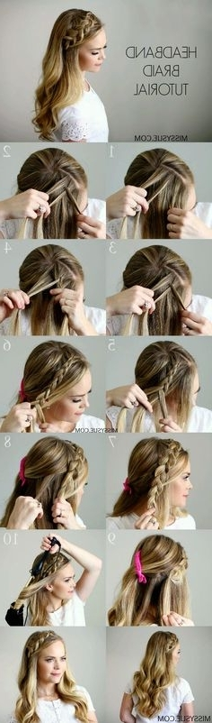 470 Best Hair Images On Pinterest   Hairstyle Ideas, Cute Hairstyles Pertaining To Most Up To Date Cornrows Enclosed By Headband Braid Hairstyles (View 12 of 15)