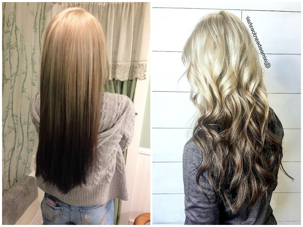 Reverse Ombre Hair Colors 2018