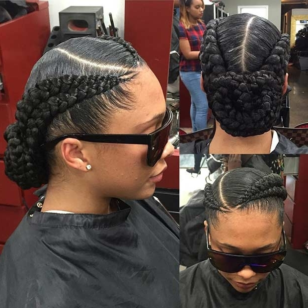5 Best Two Cornrow Styles To Stay Glamorous – Hairstylecamp Intended For Current Two Cornrows Hairstyles (View 7 of 15)