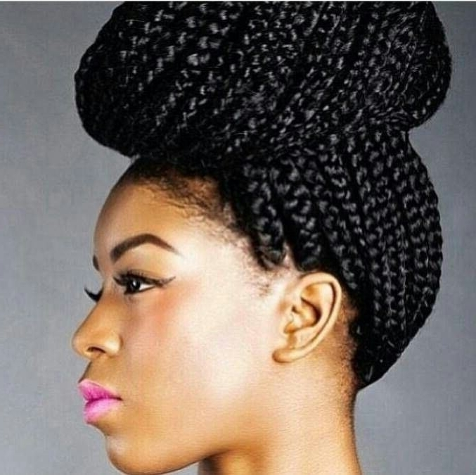 5 Chic Ways To Style Your Box Braids | Fashionghana: 100 Intended For Most Up To Date Ebony Braided Hairstyles (View 4 of 15)