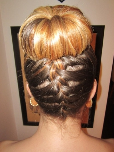 5 Different Hair Styles For The Sock Bun Inside Best And Newest Two French Braid Hairstyles With A Sock Bun (View 12 of 15)