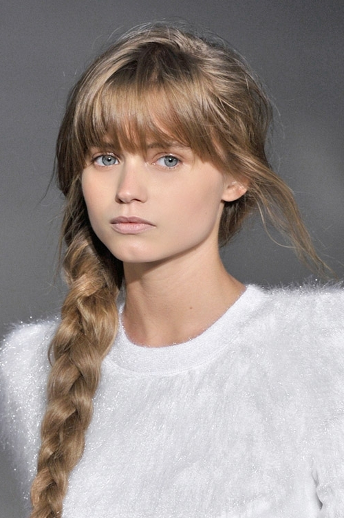 5 Hairstyles For Dirty Hair Within Most Current Braided Hairstyles With Bangs (View 7 of 15)