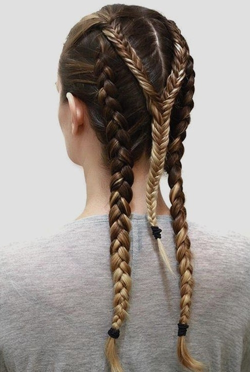 5 Minute Hairstyles For School Going And Teenage Girl With Newest Triple The Braids Hairstyles (View 9 of 15)