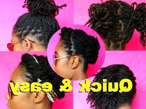 5 Quick Lazy Day Hairstyles On Old Mini Twists [Natural Hair In Recent Mini Cornrows Hairstyles (View 12 of 15)