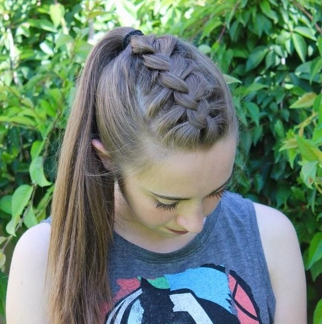 5 Relaxed Braided Hairstyles | Hairstyle Ideas! | Pinterest | High For Most Current Braid Into Pony Hairstyles (View 2 of 15)