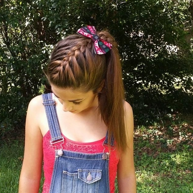 5 Relaxed Braided Hairstyles | Pinterest | Side Ponytails, Ponytail Within Current Diagonally Braided Ponytail (View 2 of 15)