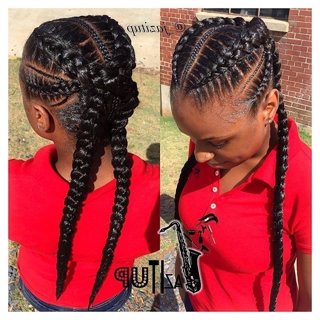 50 Absolutely Beautiful Feed In Braid Hairstyles For Latest Criss Crossed Braids With Feed In Cornrows (View 7 of 15)