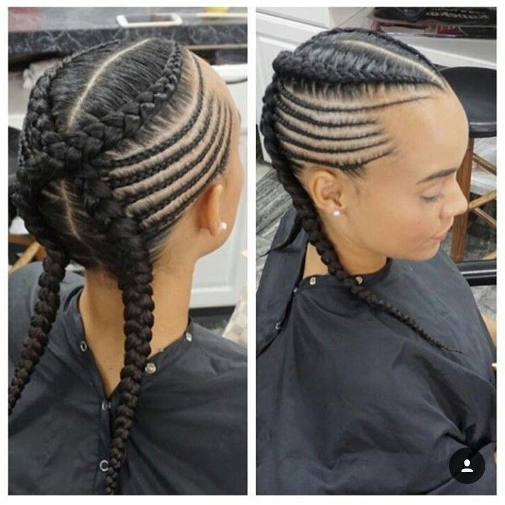 50 Absolutely Beautiful Feed In Braid Hairstyles With Latest Criss Crossed Braids With Feed In Cornrows (View 5 of 15)