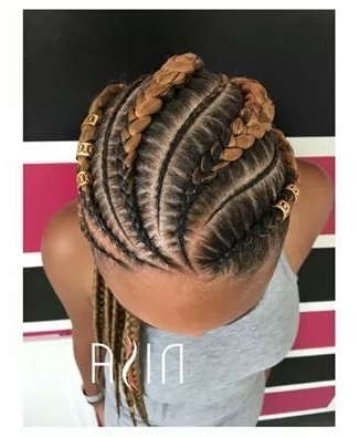 50 Absolutely Beautiful Feed In Braid Hairstyles Within 2018 Braids Hairstyles With Curves (View 14 of 15)