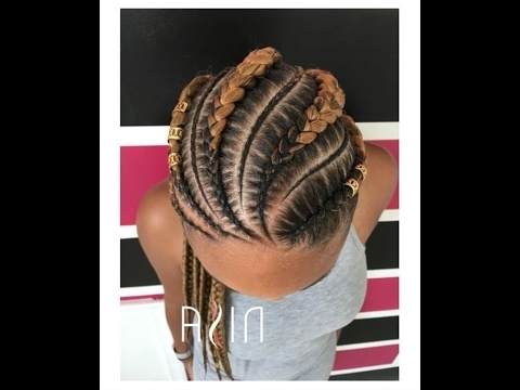 50 Amazing Cornrow Braid Hairstyle For Round Face; Collection Of Big Within Recent Large Braided Updos (View 2 of 15)