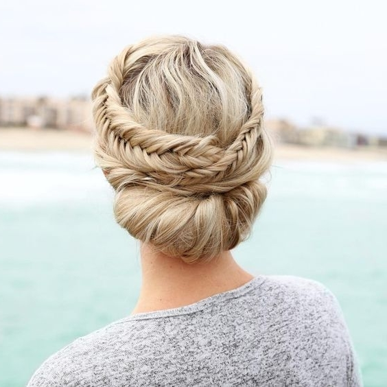 50 Beautiful Easy Updos For Trendy Long Haired Ladies Regarding Most Recent Spirals Rolled Braided Updo (View 14 of 15)