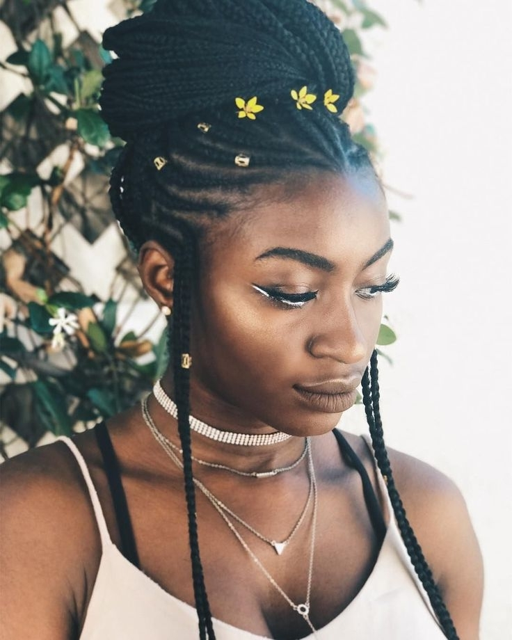 50 Best Braids Images On Pinterest | Protective Hairstyles, Cornrow Inside Most Up To Date Minimalistic Fulani Braids With Geometric Crown (View 5 of 15)