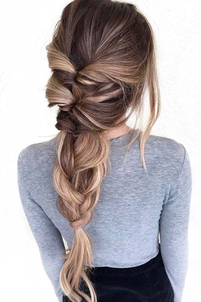 50+ Charming Braided Hairstyles   Pinterest   Plait Hairstyles Pertaining To Most Current Braided Loose Hairstyles (View 5 of 15)