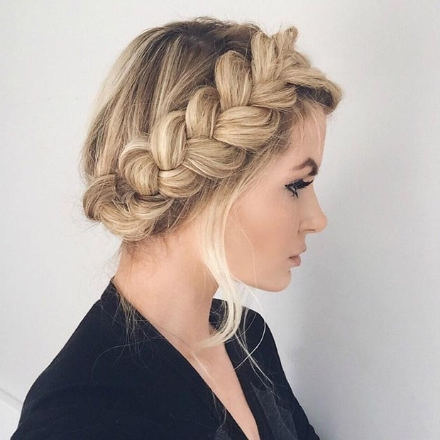50 Cute And Trendy Updos For Long Hair | Stayglam With Most Recent Large Braided Updos (View 9 of 15)