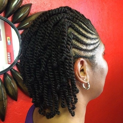 50 Easy And Showy Protective Hairstyles For Natural Hair Cornrows For Recent Cornrows Hairstyles With Own Hair (View 3 of 15)