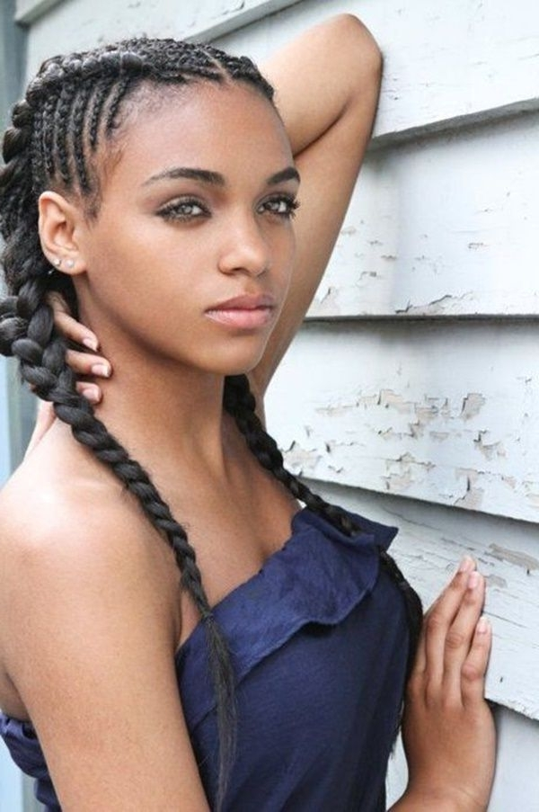 50 Ebony Girls Hairstyles To Try This Season | Hair Tutorials With Most Current Ebony Braided Hairstyles (View 5 of 15)