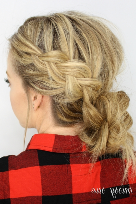 50 Fabulous French Braid Hairstyles To Diy | Hair And Beauty With Regard To Most Current Pair Of Braids With Wrapped Ponytail (View 5 of 15)