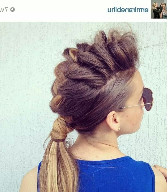 50 French Braid Hairstyles For 2015 | French Braid Updo, French For Most Current Mohawk French Braid Hairstyles (View 8 of 15)