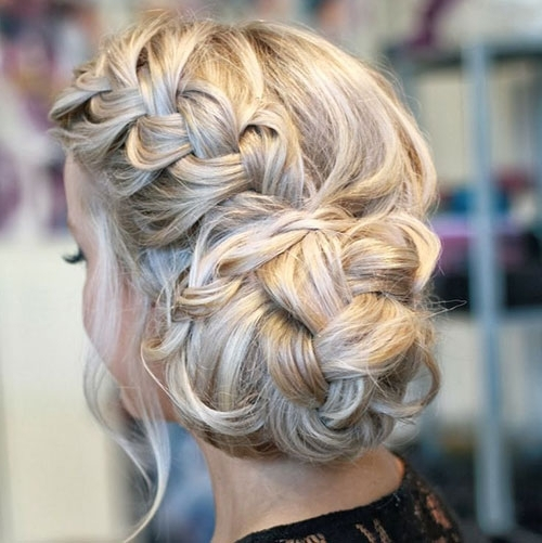 50 French Braid Hairstyles For 2015 | Stayglam In 2018 Bun Braided Hairstyles (View 13 of 15)