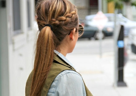 50 French Braid Hairstyles For 2015   Stayglam Intended For 2018 French Pull Back Braids Into Ponytail (View 12 of 15)