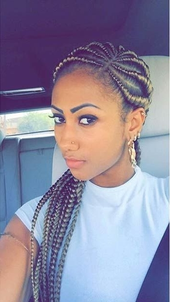 50 Ghana Braids Styles | Herinterest/ Intended For Current Cornrows Hairstyles With Color (View 10 of 15)