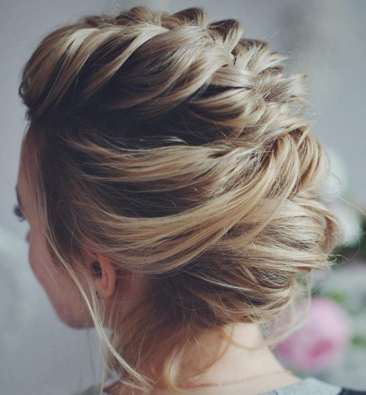 50 Hottest Prom Hairstyles For Short Hair | Style That Hair Pertaining To Most Recently Messy Loosely Braided Side Downdo (View 3 of 15)