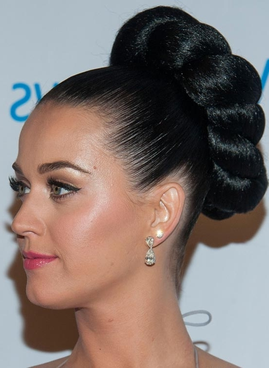 50 Lovely Bun Hairstyles For Long Hair Throughout Most Up To Date Large High Bun With A Headband (View 12 of 15)