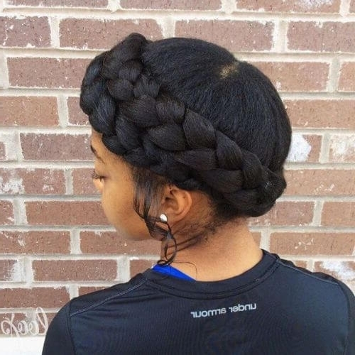 50 Natural Goddess Braids To Bless Ethnic Hair In 2018 Inside Best And Newest Bulky Braided Crown Bun (View 10 of 15)