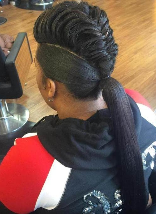 50 Natural Goddess Braids To Bless Ethnic Hair In 2018 Regarding Most Recently Ponytail Braids With Quirky Hair Accessory (View 2 of 15)