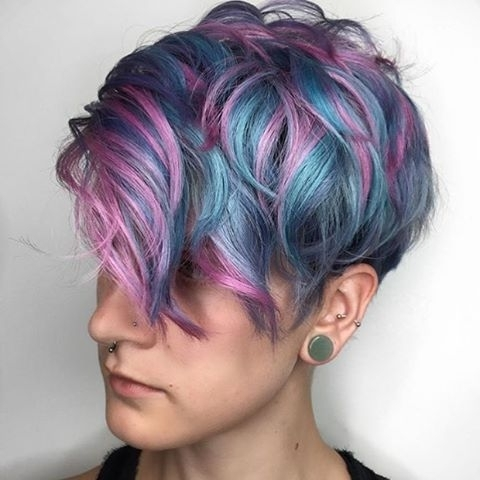 50 Sweeet Cotton Candy Hair Ideas That Are As Aye Pleasing As Can Be With Regard To Most Up To Date Cotton Candy Updo Hairstyles (View 5 of 15)