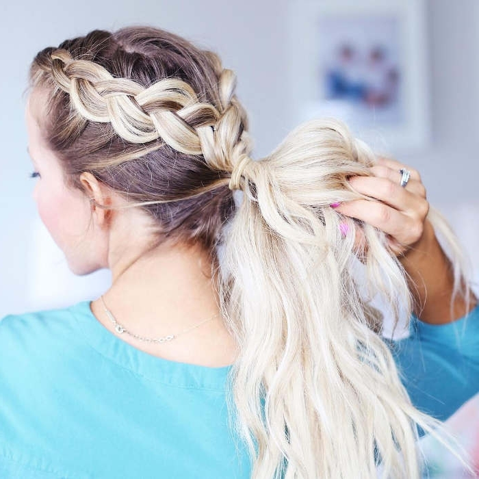 51 Glorious Ponytail Hairstyles For Women And Men – Hairsdos Throughout Most Up To Date Two Braids Into One Braided Ponytail (View 7 of 15)