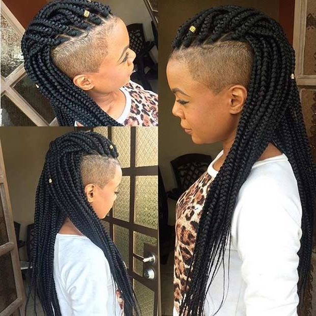 51 Hot Poetic Justice Braids Styles | Page 2 Of 5 | Stayglam Regarding Best And Newest One Side Shaved Braided Hairstyles (View 9 of 15)