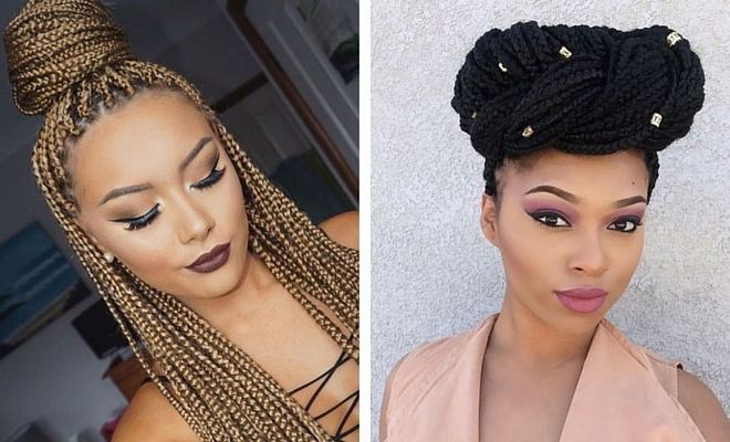 51 Hot Poetic Justice Braids Styles | Page 4 Of 5 | Stayglam Intended For Recent Super Long Dark Braids With Cuffs (View 7 of 15)