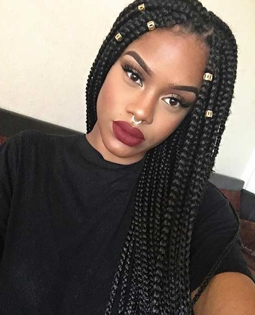 51 Hot Poetic Justice Braids Styles | Page 4 Of 5 | Stayglam Pertaining To 2018 Super Long Dark Braids With Cuffs (View 8 of 15)