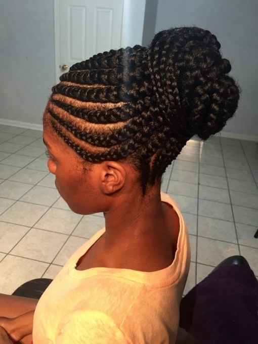 51 Latest Ghana Braids Hairstyles With Pictures – Beautified Designs Throughout Recent Ghana Braids Hairstyles (View 14 of 15)