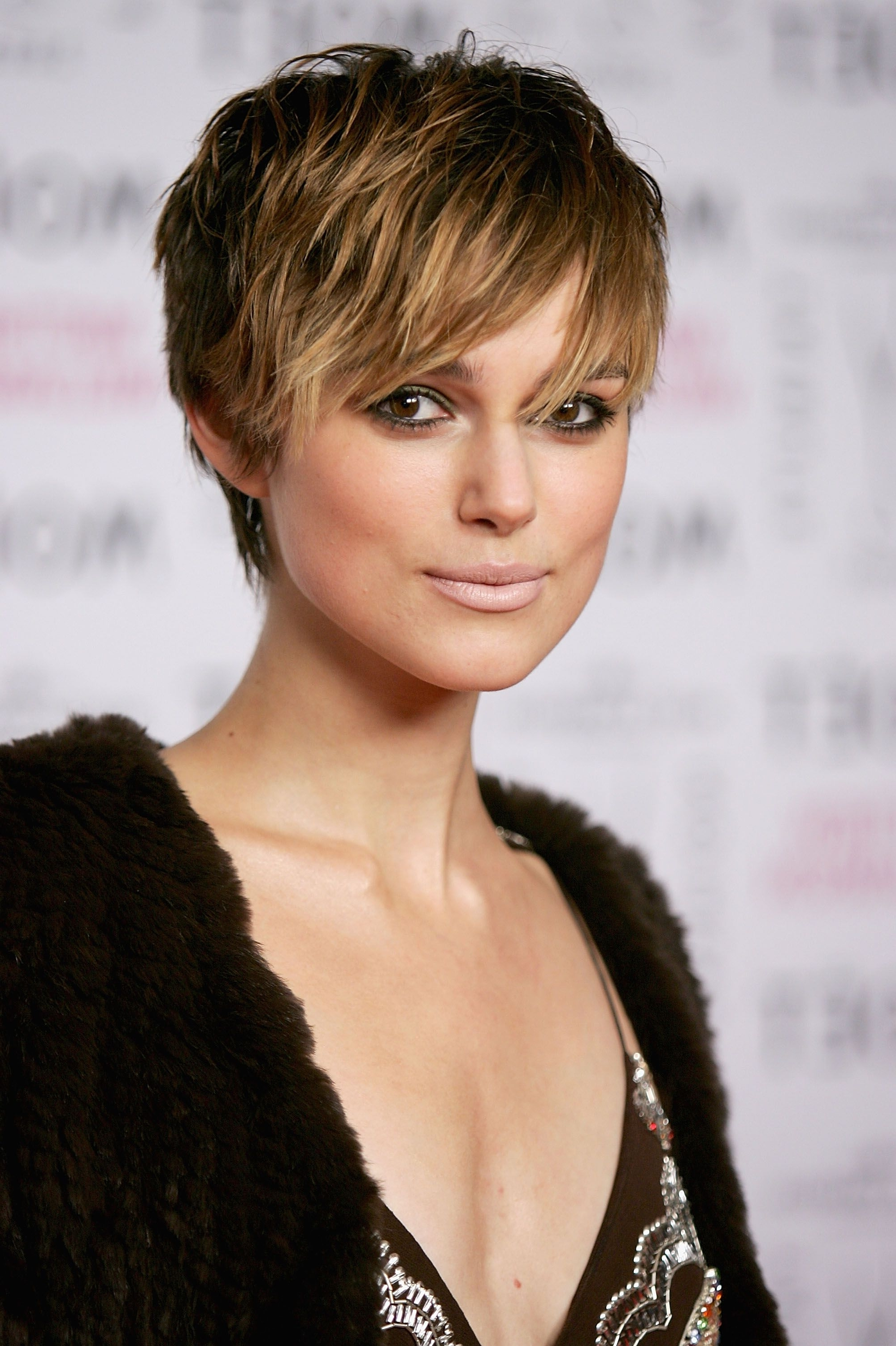 Displaying Gallery Of Short Choppy Side Parted Pixie Haircuts View