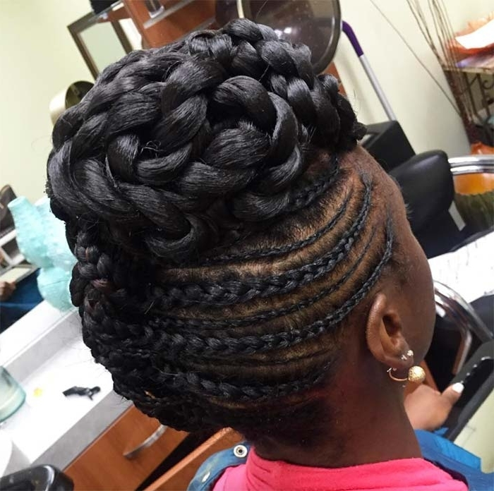 53 Goddess Braids Hairstyles – Tips On Getting Goddess Braids With Latest Braided Goddess Updo Hairstyles (View 12 of 15)