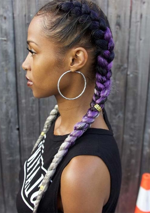 53 Goddess Braids Hairstyles – Tips On Getting Goddess Braids With Regard To Current Top Knot Ponytail Braids With Pink Extensions (View 12 of 15)