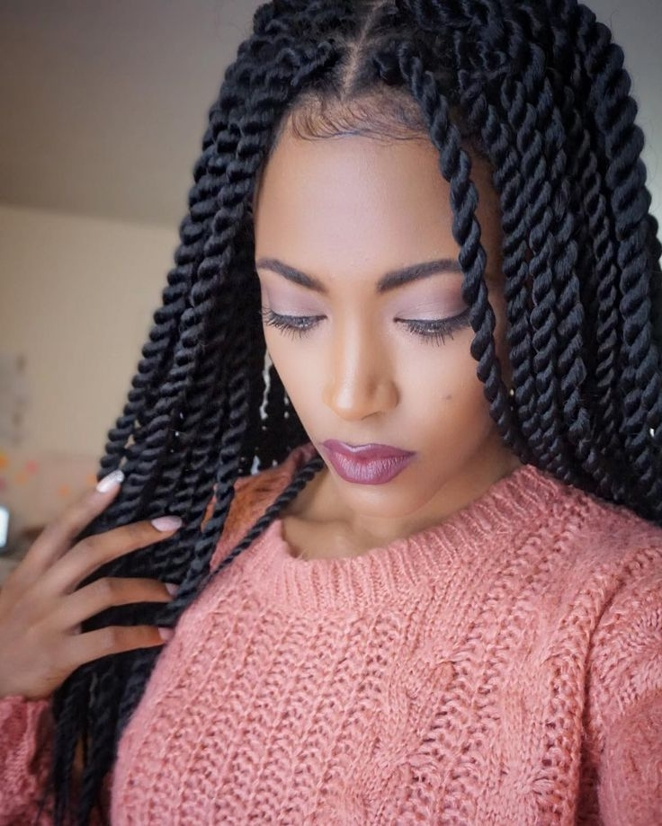55 Gorgeous Senegalese Twist Styles — Perfection For Natural Hair Throughout Recent Twist Braided Hairstyles (View 4 of 15)