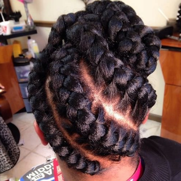 55 Of The Most Stunning Styles Of The Goddess Braid For Most Recent Big Updo Cornrows Hairstyles (View 12 of 15)