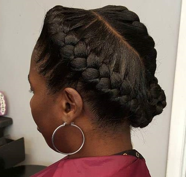 55 Of The Most Stunning Styles Of The Goddess Braid Inside Most Popular Chunky Two French Braid Hairstyles With Bun (View 3 of 15)