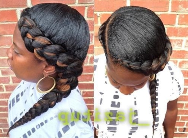 55 Of The Most Stunning Styles Of The Goddess Braid Regarding Most Recent Two Braids Into One (View 10 of 15)
