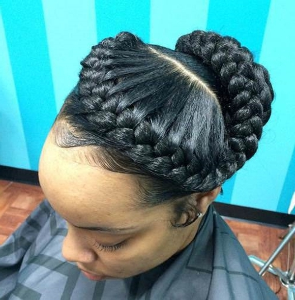 55 Of The Most Stunning Styles Of The Goddess Braid With Recent Large Braided Updos (View 4 of 15)