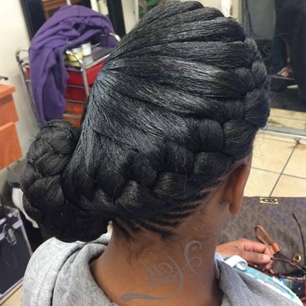 55 Of The Most Stunning Styles Of The Goddess Braid Within Latest Braided Hairstyles Up In One (View 7 of 15)