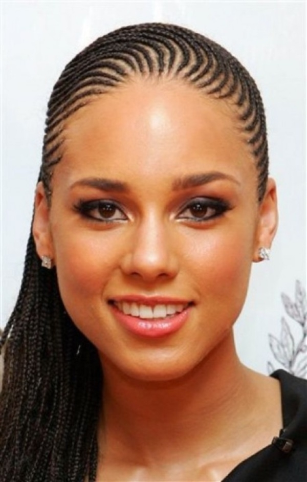 58 Beautiful Cornrows Hairstyles For Women Intended For Most Popular Small Cornrows Hairstyles (View 11 of 15)